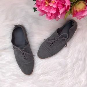 GAP grey suede lace up oxford flat shoes